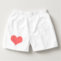 Heart - love - strips - red and white. boxers