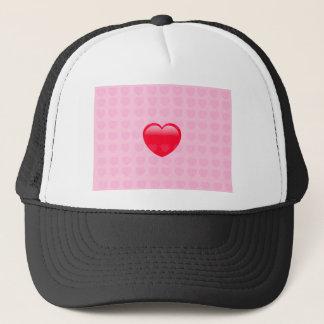 HEART & LOVE SYMBOL TRUCKER HAT