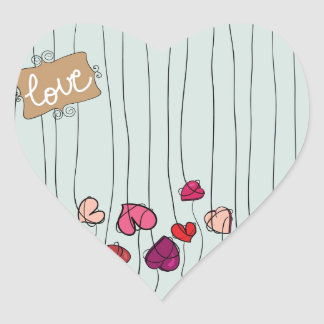 Heart love the Valentins Heart Sticker