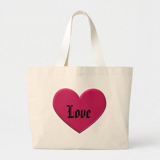 Heart Love Tote Bag