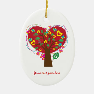 Heart love tree Valentine's Day custom ornament