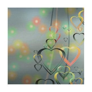 Heart Love Wood Print
