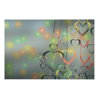 Heart Love Wood Canvases