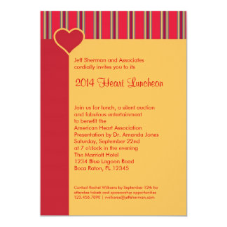 Heart Luncheon Fundraising Event Invitation