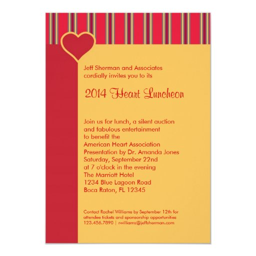 Heart Luncheon Fundraising Event Invitation