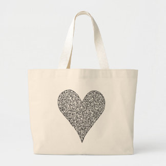 Heart, made of faces bags