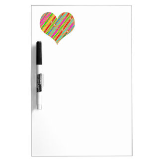 Heart made of Punch Paper Shreds Patch on Gold Sh Dry-Erase Board