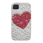 Heart made of red pills Case-Mate iPhone 4 cases
