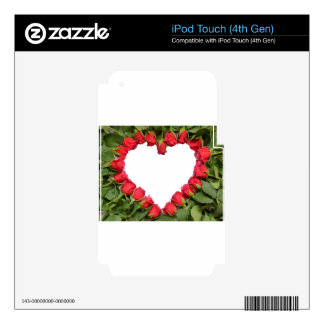 Heart made of red roses on stem.jpg skin for iPod touch 4G