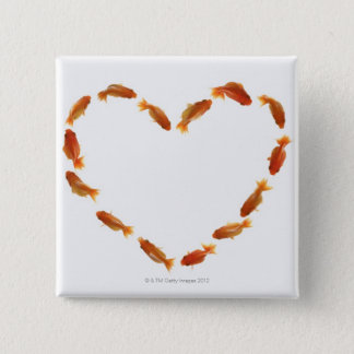 Heart made with goldfishes button