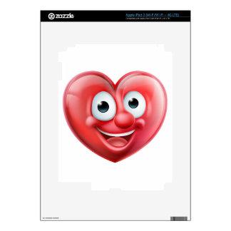 Heart Man Cartoon Character iPad 3 Decal