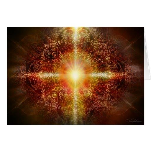 Heart Mandala Brown Card