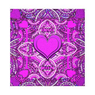 Heart Mandala Canvas Print