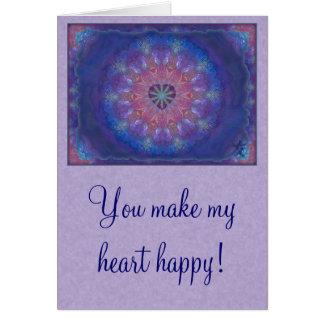 Heart Mandala Card