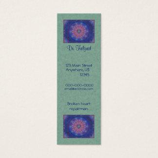 Heart Mandala Mini Business Card