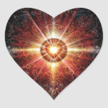 Heart Mandala Red 2013 Heart Stickers