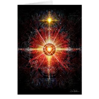 Heart Mandala Red Card