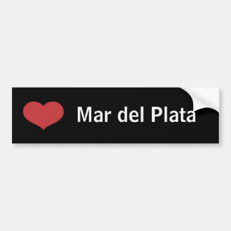 Heart Mar del Plata Bumper Sticker