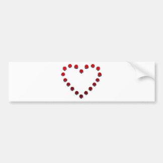 heart mark バンパーステッカー