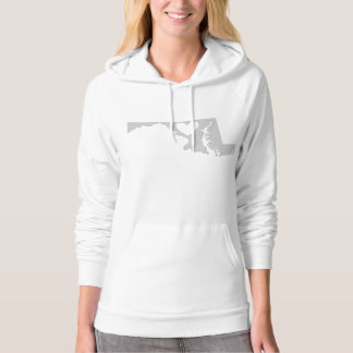 Heart Maryland state silhouette Hoodie
