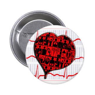 HEART MEDICAL SPECIALTIES CARDIOGRAM BUTTON