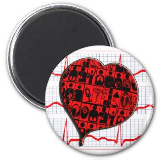 HEART MEDICAL SPECIALTIES CARDIOGRAM MAGNET