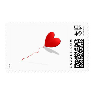 """Heart Medium, 2.1"""" x 1.3"""", $0.49 (1st Class 1oz) Stamp"""