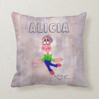 Heart Melting Melancholic Cartoon Pout Kids Name Pillow