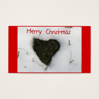 Heart melting snow / Merry Christmas Business Card