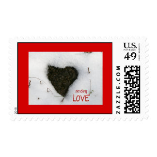 Heart melting snow / Sending Love-Holidays Postage