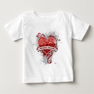 Heart Mendelssohn Baby T-Shirt