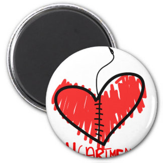 Heart Mender 2 Inch Round Magnet