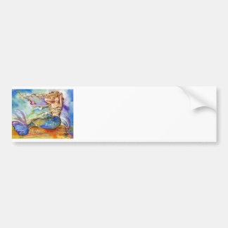 Heart Mermaid Car Bumper Sticker
