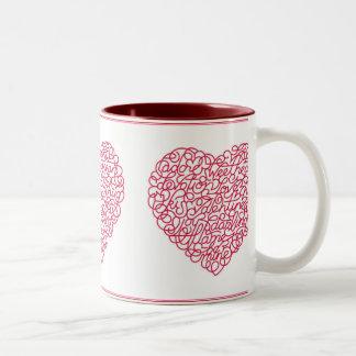 heart_messages Two-Tone coffee mug