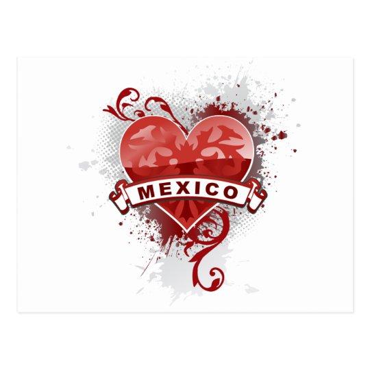 Heart Mexico Postcard