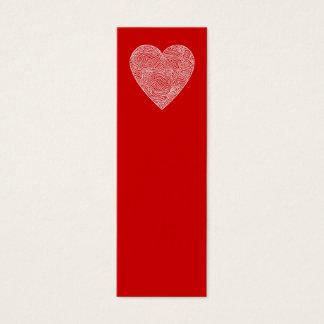 Heart Mini Bookmarks - Mini Business Card