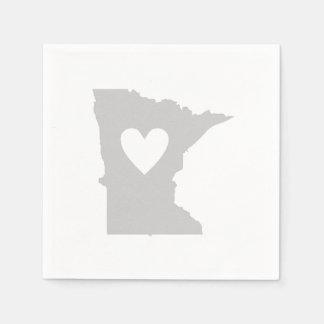 Heart Minnesota state silhouette Paper Napkin