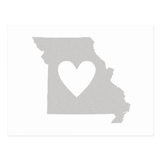 Heart Missouri state silhouette Postcard