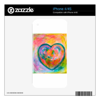 Heart Mist Decal For The iPhone 4
