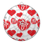 Heart Mix 1 Red Dart Boards