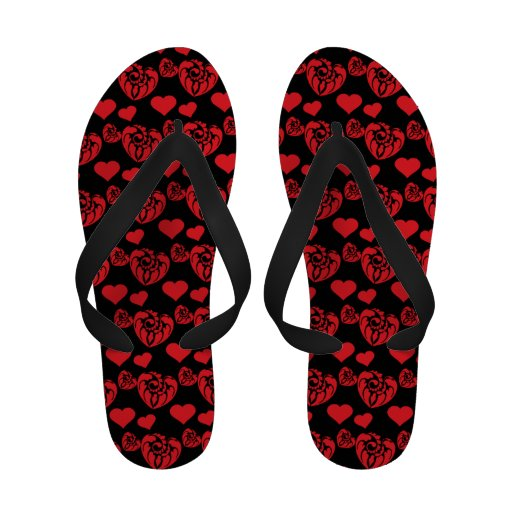 Heart Mix 1 Red Flip-Flops