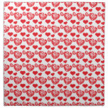 Heart Mix 1 Red Printed Napkin