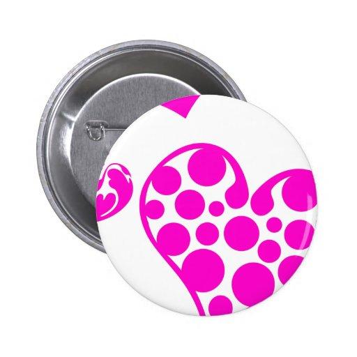 Heart Mix 2 Pink 2 Inch Round Button