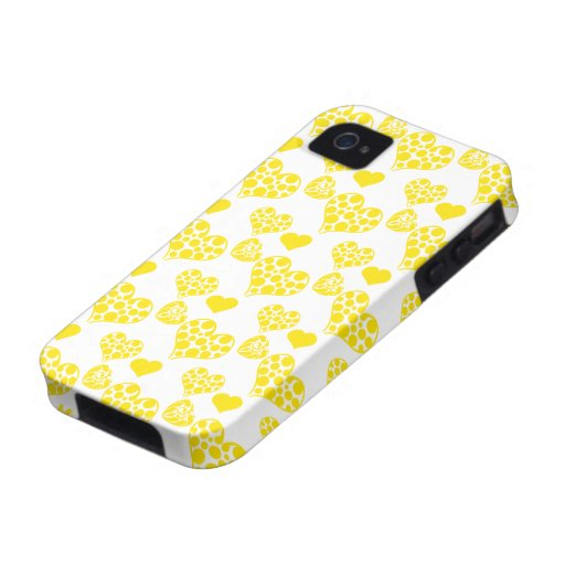 Heart Mix 2 Yellow Vibe iPhone 4 Cover