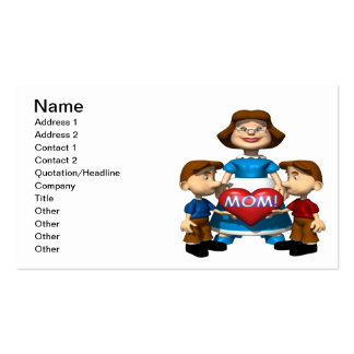 Heart Mom Double-Sided Standard Business Cards (Pack Of 100)