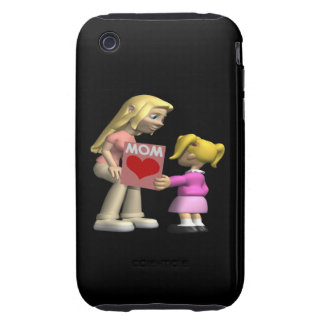 Heart Mom iPhone 3 Tough Cover