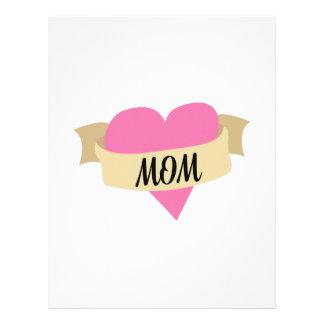 Heart Mom Letterhead