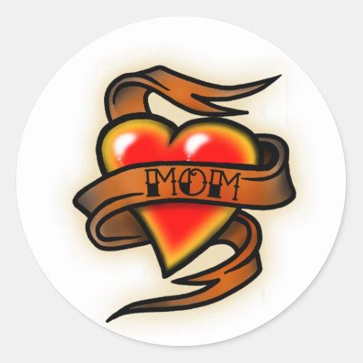 heart mom tattoo sticker