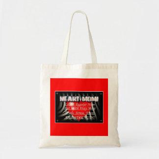 Heart Mom Tote Budget Tote Bag