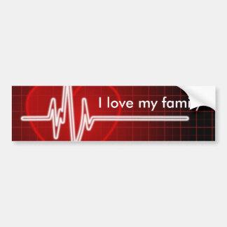heart-monitor-500, I love my family Bumper Sticker